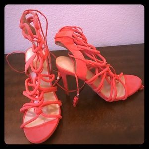 Wild diva size 7 lace up heels